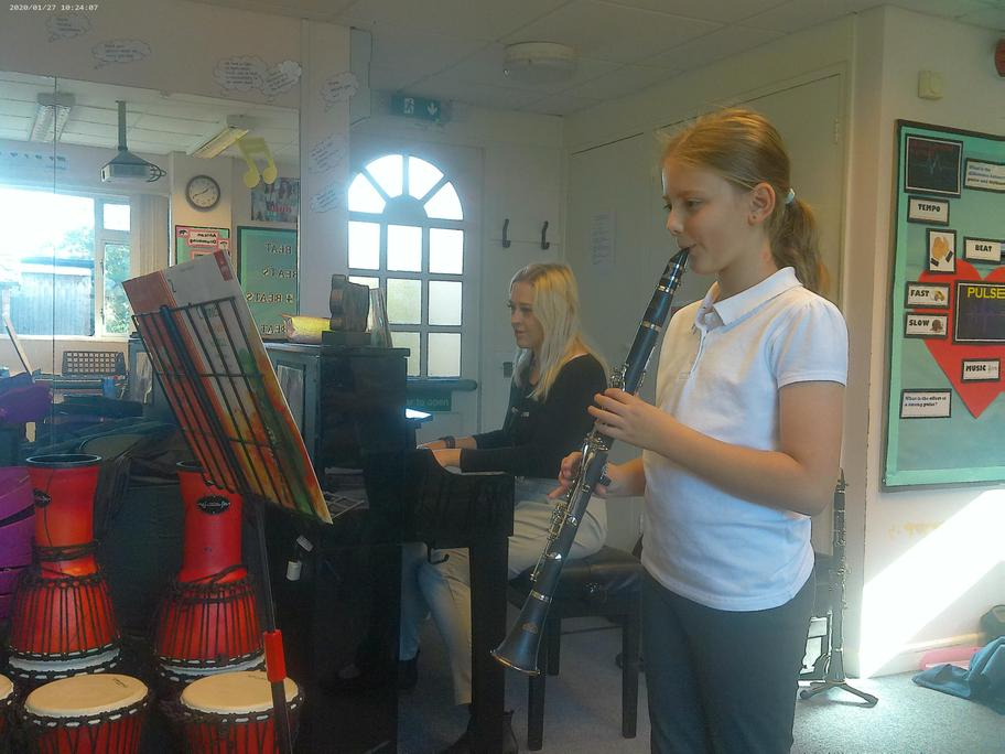 This is Eleanor, working towards her grade 2 clarinet! Keep up the good work, Eleanor! =)