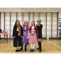Voted best dressed Year 6, Holly, Georgina, Molly and Ella