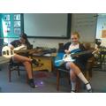 Having fun on the bass guitar, developing new skills!