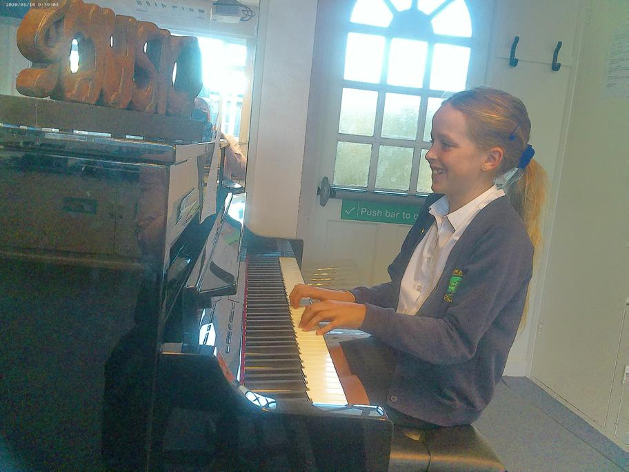 Making learning fun! This is Isla, making great progress in her curriculum music lessons!