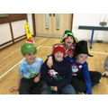 Christmas parties have been happening all week in the various year groups, nobody's ever too old for pass the parcel and musical statues, sausage rolls and fairy cakes!