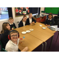 Mr Gould, Mrs French and Mrs Aplin spent a lovely morning decorating Christmas biscuits with the 'always children'. The 'always good' are named so because they have shown great behaviour all term and have not missed any lunch time minutes. Well done children, what a nice reward.