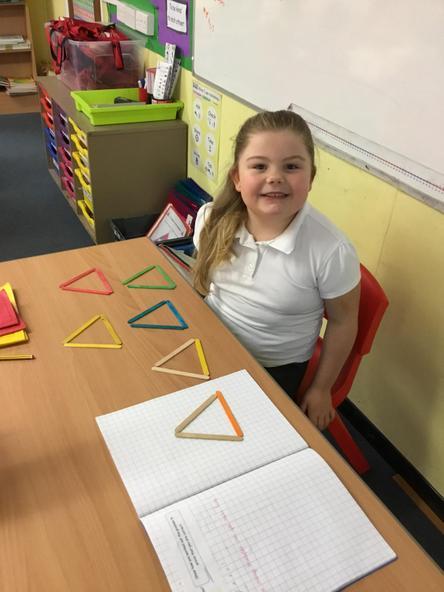 I made 6 triangles.