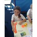 Making old farming tools in our topic lessons.