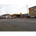 A petrol station.