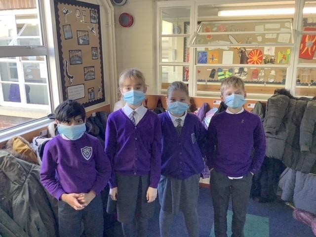 Four face masks