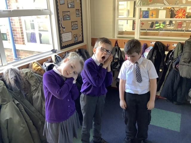 Three tired teachers