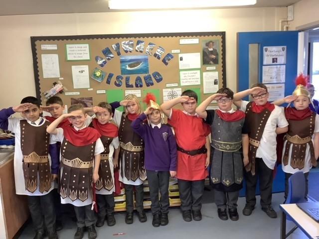 Eleven Roman soldiers