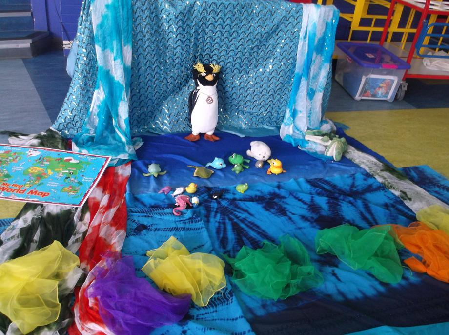 The children also used their imaginations and story telling through dance.