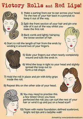 Have a go at giving yourself a 1940s hairstyle!