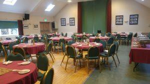 Tables set and ready to go