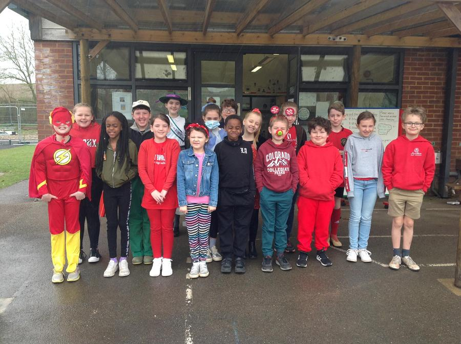Raising funds for Comic Relief.