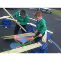 We moved large objects co-operatively