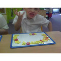 Rhyming with magnetic letters