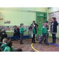 We acted out the wolf, sheep and cabbage problem