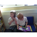 Here we are working on our talking!