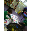 We matched the colours onto our colour wheels