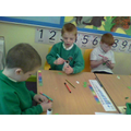 We are colouring our beanstalks