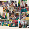 Taste testing our sandwiches
