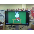 Now Miffy is on the parallel bars