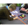 I am learning to bridge ten to add using dienes
