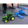 He explained how the seed drill works