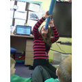 On Friday we made telescopes!