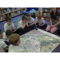 We looked at an aerial map of our school