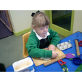 We made our fingers stronger with playdough