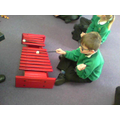 Our music lesson with Mr Chapman