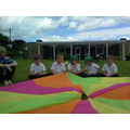 We had a lovely time in the sun with the parachute