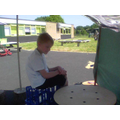 We built a den outside!