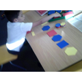 I can make a repeating pattern, 2 shapes