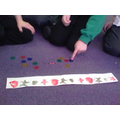 We used counters to represent our shapes