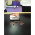 I used 2p and 1p coins to make totals, with help