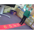 We can walk up and down the number line