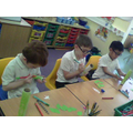 We are busy writing and colouring