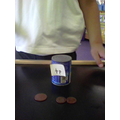 I made this amount with 1p and 2p coins.