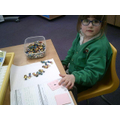 I am learning to match numerals to quantities