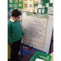 Jack reading 'A tree'