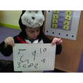 I can write numbers to 10