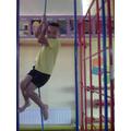 I can climb a rope!