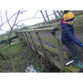 This is a ramp from a viaduct to the path