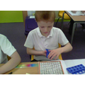 We used numicon and 100 squares