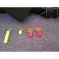 We can add up coins using cuisinaire rods to help