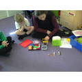 We compared coin values using Cuisinaire rods