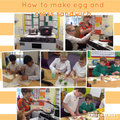 Making egg and cress sandwiches
