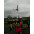 Once we got to the basketball hoops...