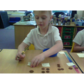 I can total mixed groups of 1p and 2p coins