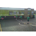 We practised throwing, catching, and bouncing